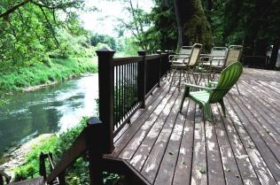 Deck overlooking the river 2